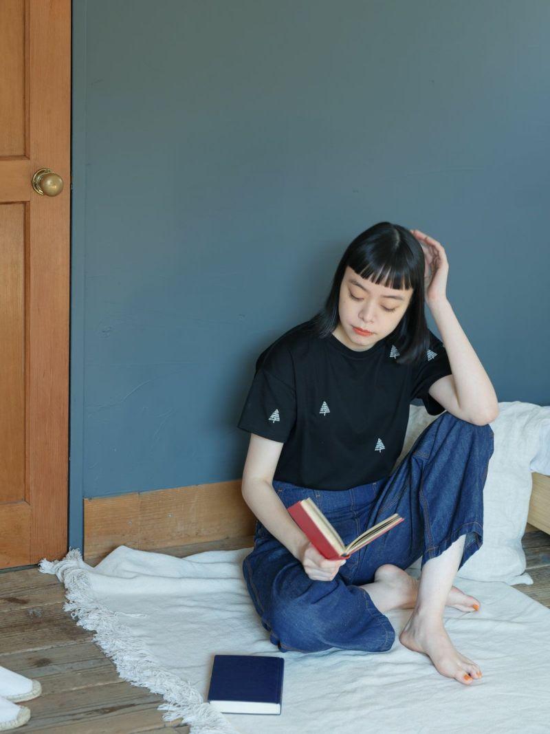 キッピス(Pont de Chalons×kippis) Kuusipuu 刺繍Tシャツ
